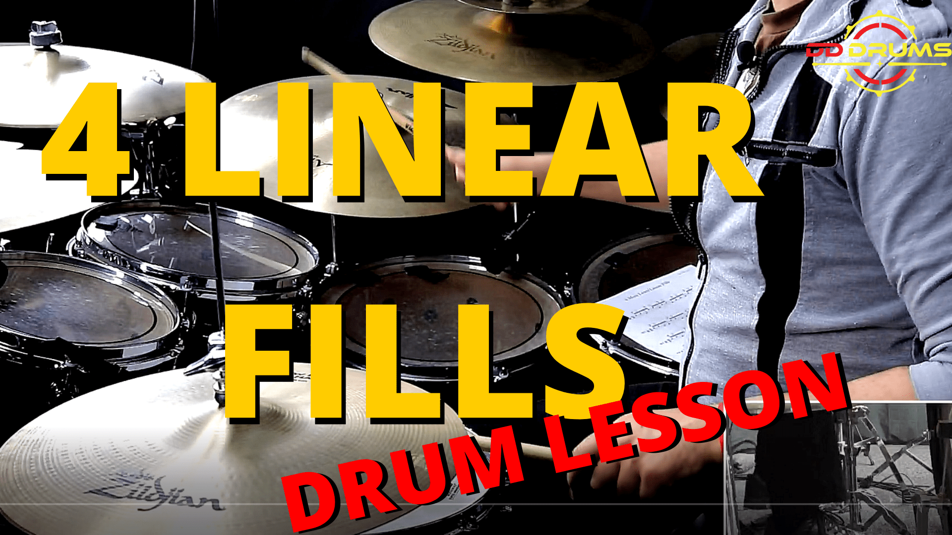 4 MUST LEARN LINEAR FILLS – DRUM LESSON