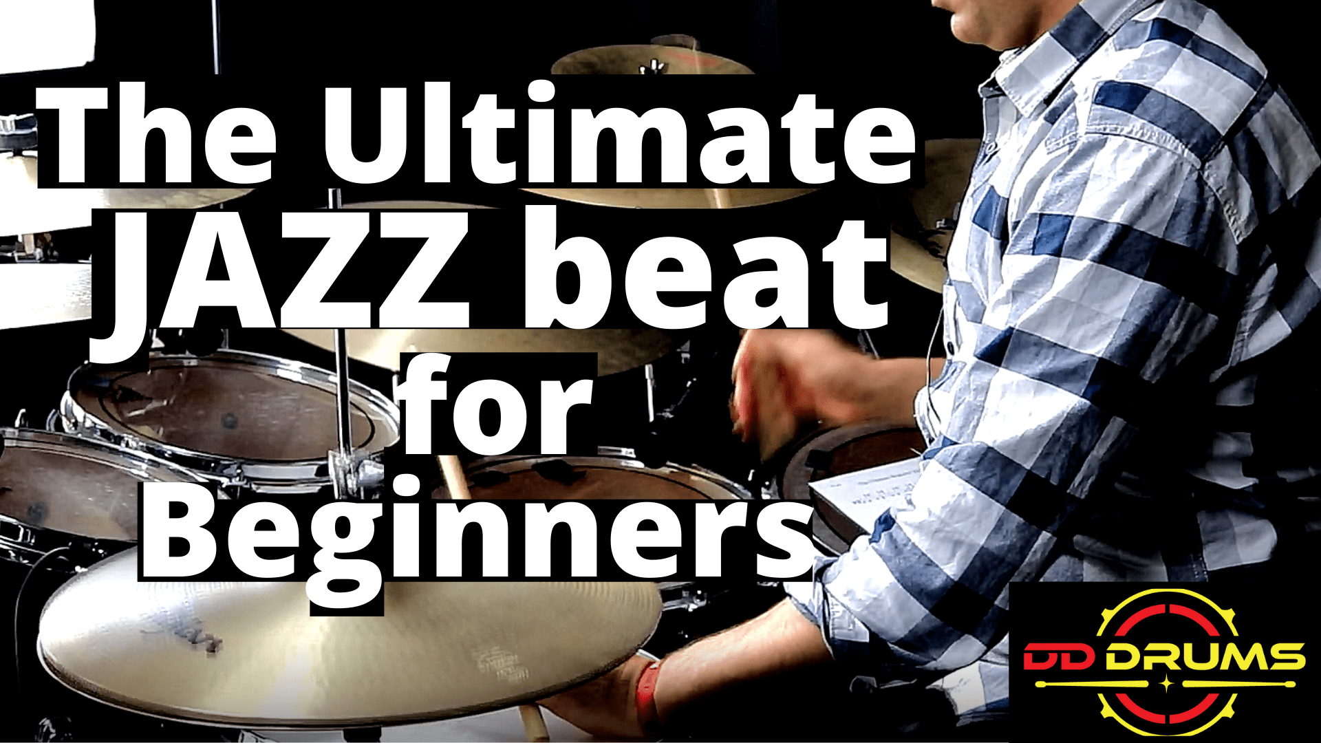 How to play The Ultimate Beginner JAZZ Beat – Drum Lesson