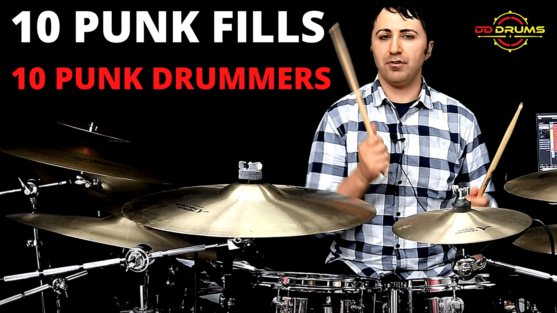 10 Punk Fills from 10 Punk Drummers – Drum Lesson