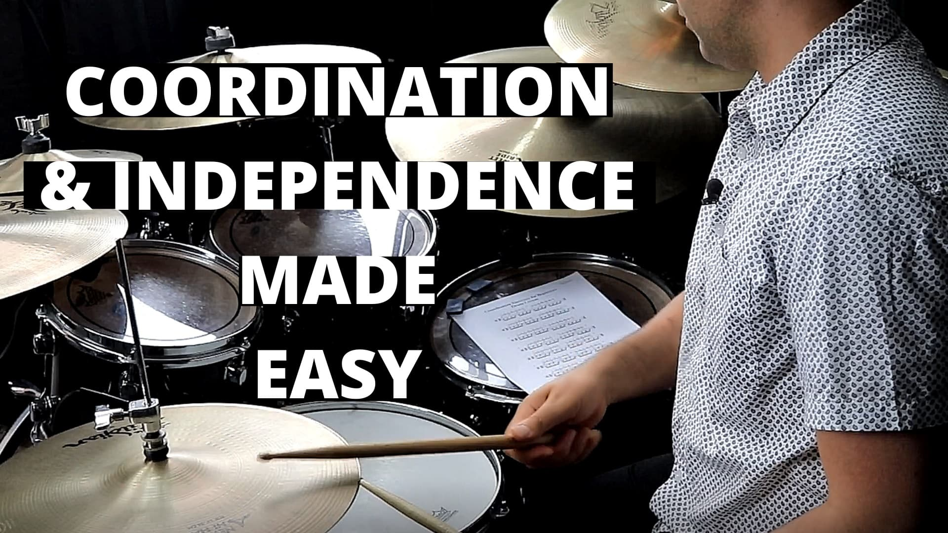 Coordination and Independence made easy – Drum Lesson