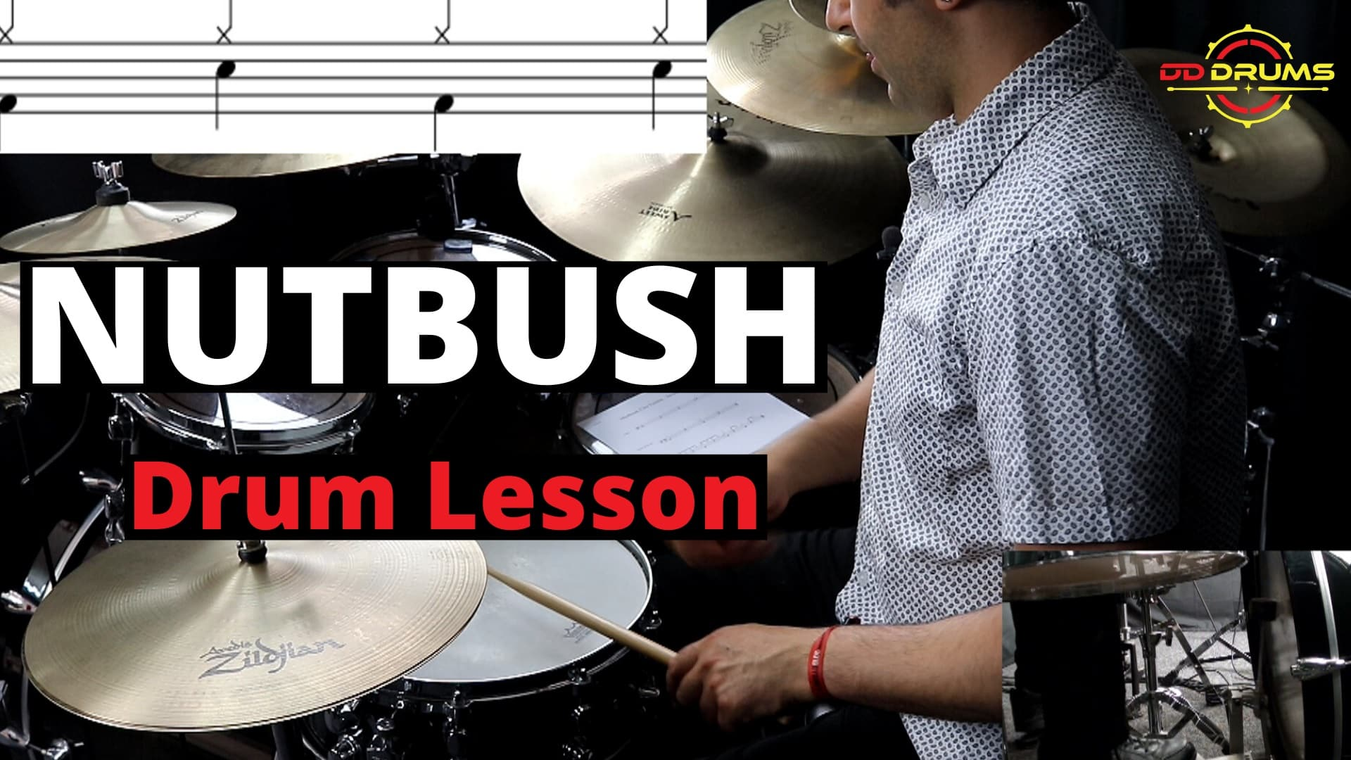 How to play Nutbush on Drums – Drum Lesson