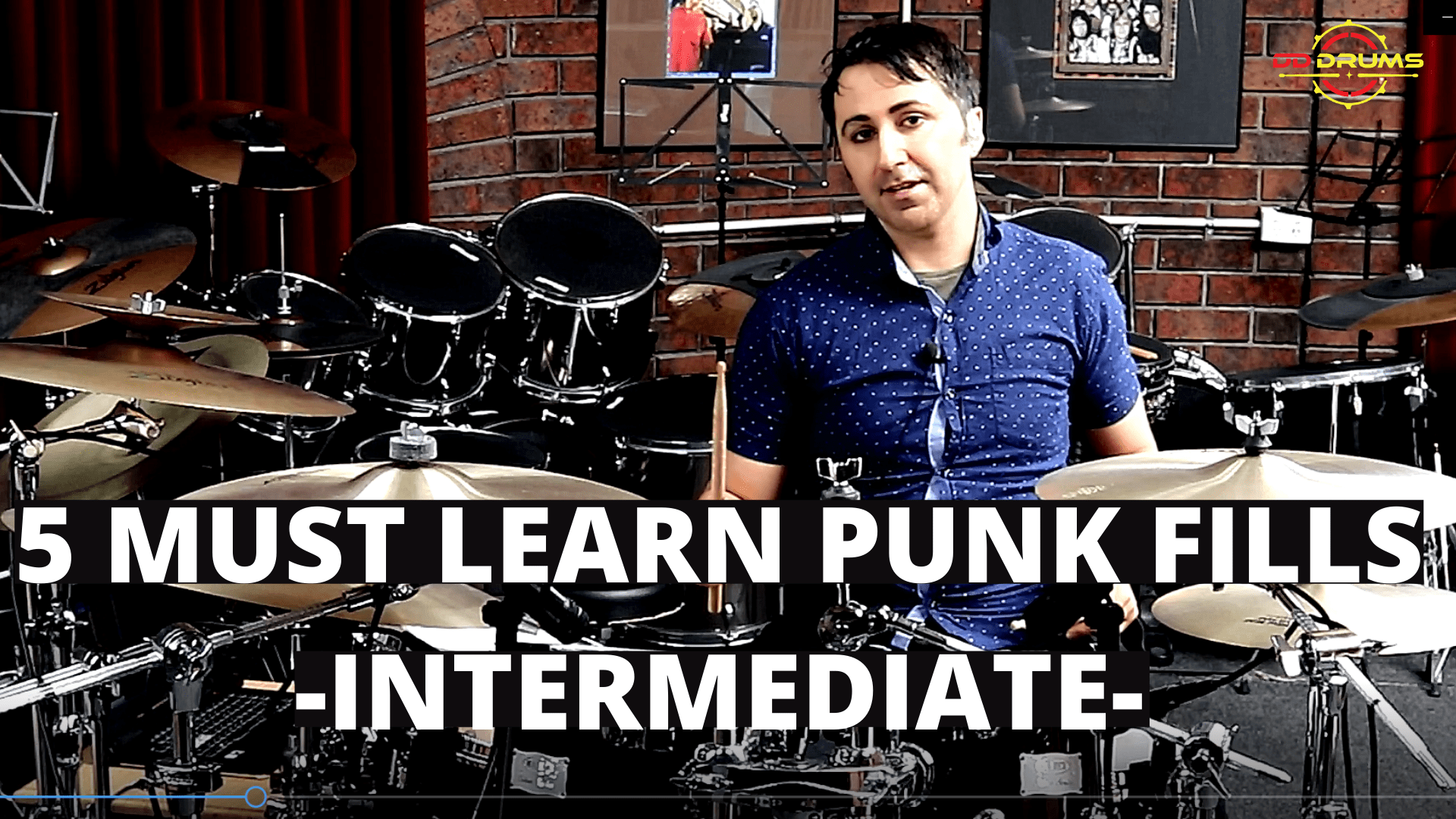 5 Must Learn Punk Rock Fills – Intermediate – Drum Lesson