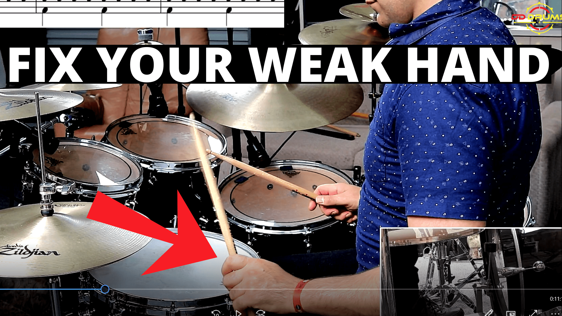 5 Exercises to massively improve your weak hand – Drum Lesson