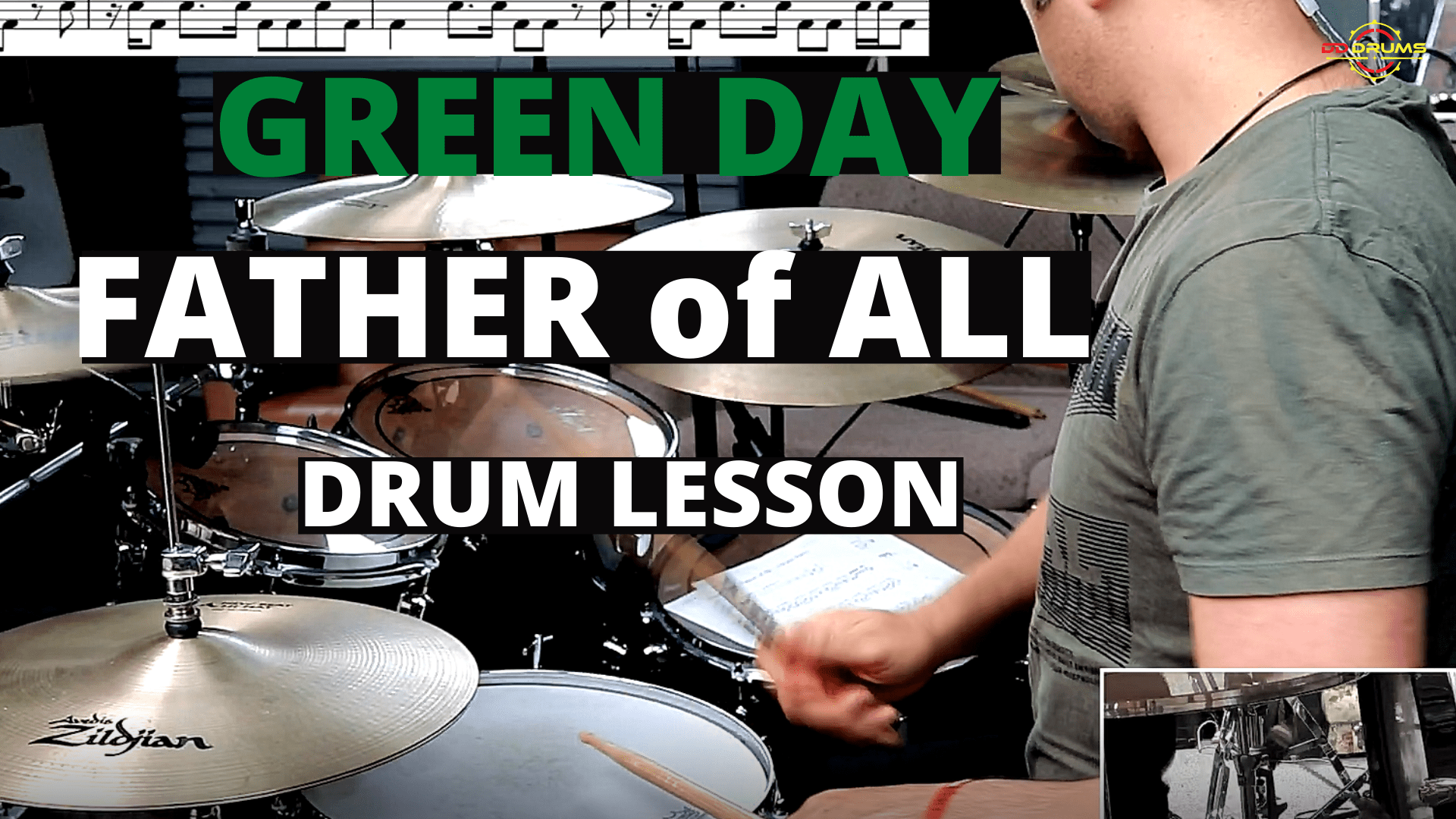 How to play 'Father of All' by Green Day on Drums – Drum Lesson