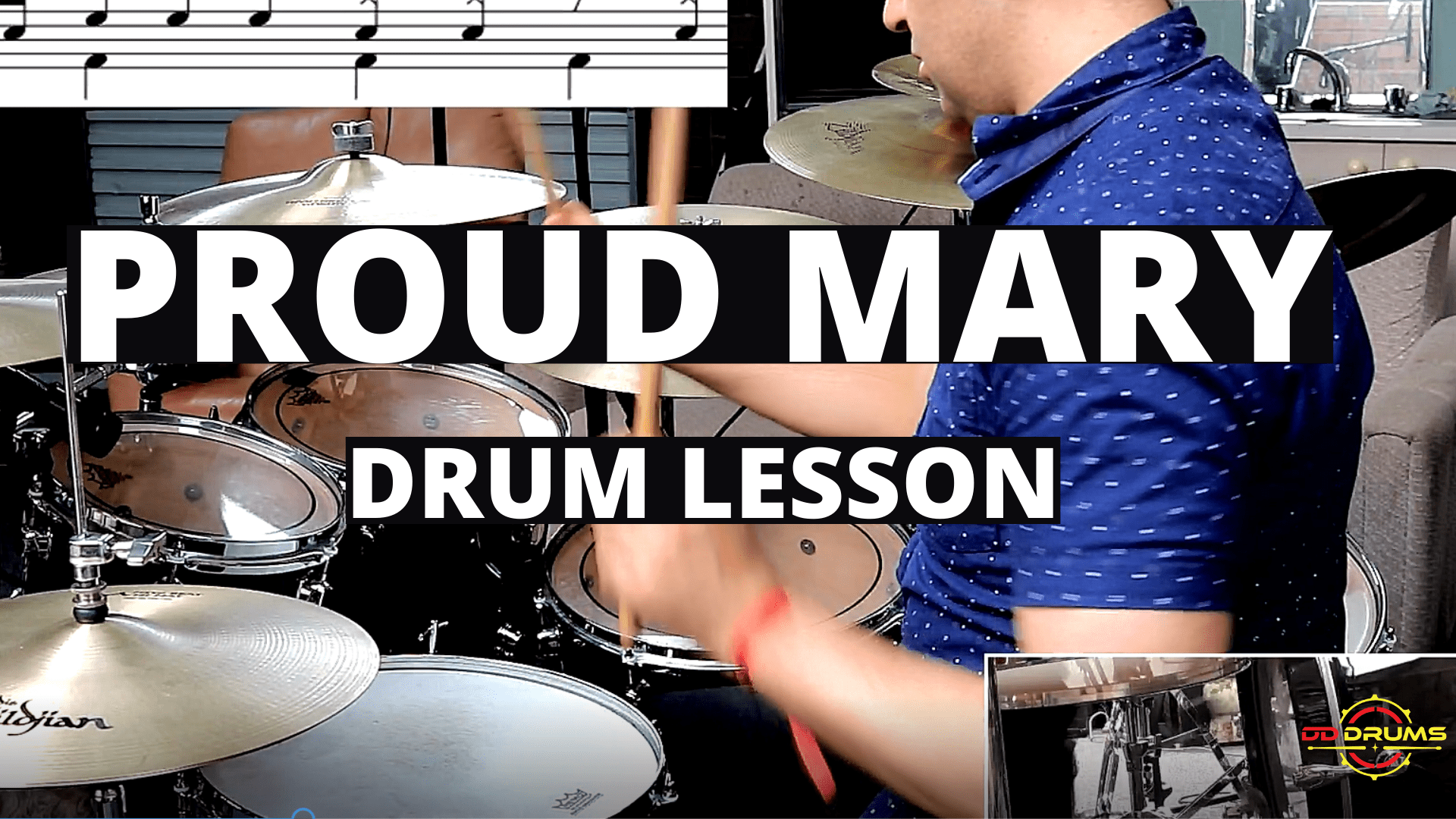 How to Play Proud Mary on Drums (Tina Turner) – Drum Lesson