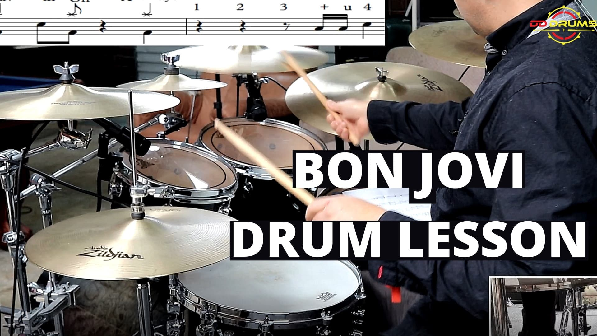 How to play Livin on a Prayer by Bon Jovi – Drum Lesson