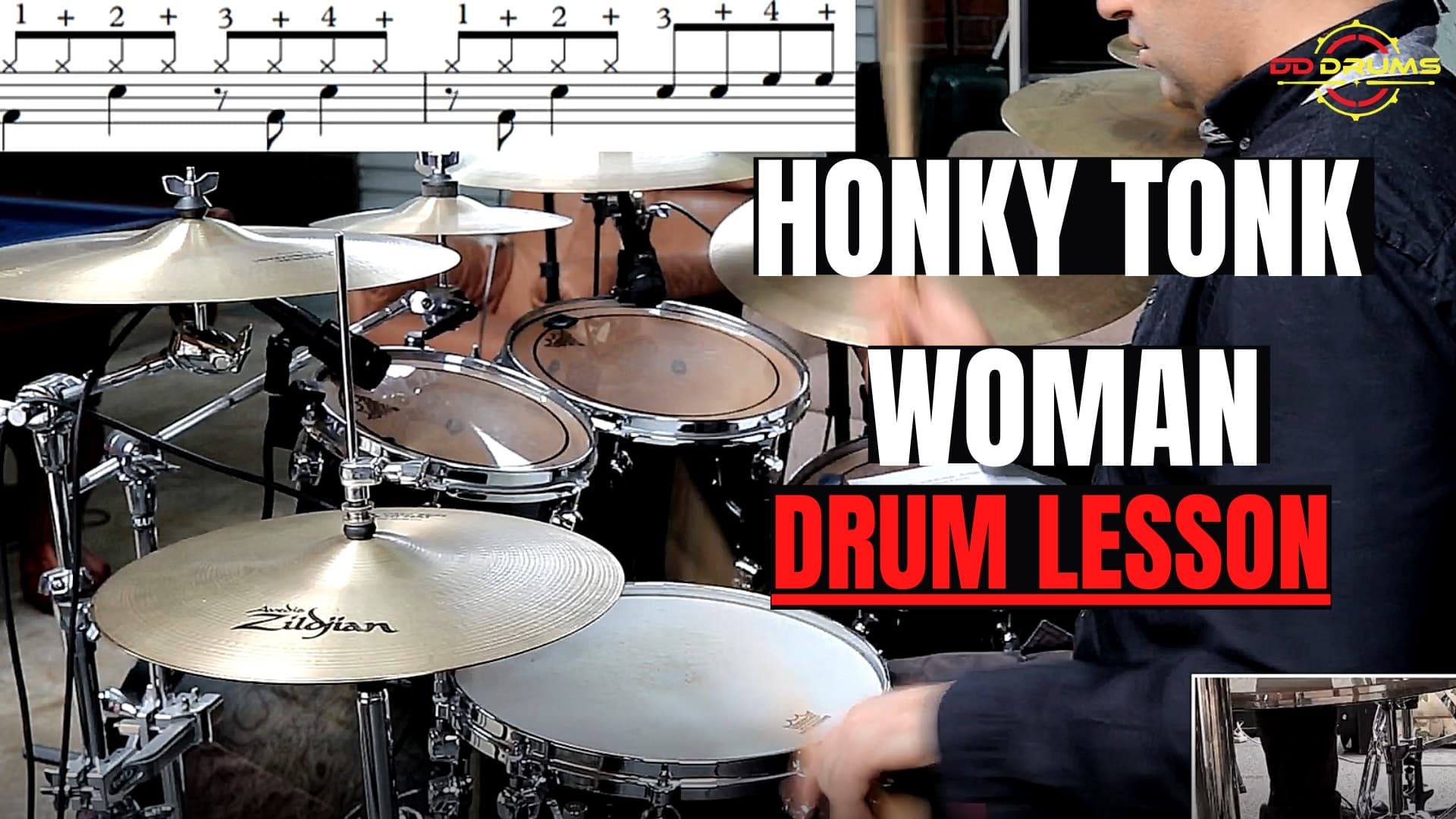 How to play Honky Tonk Woman by The Rolling Stones – Drum Lesson