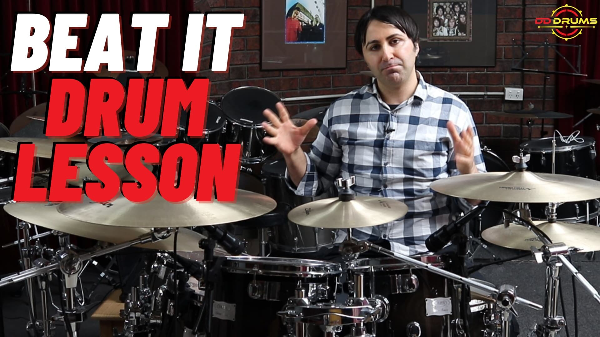 How to Play 'Beat It' on Drums – Michael Jackson – Drum Lesson