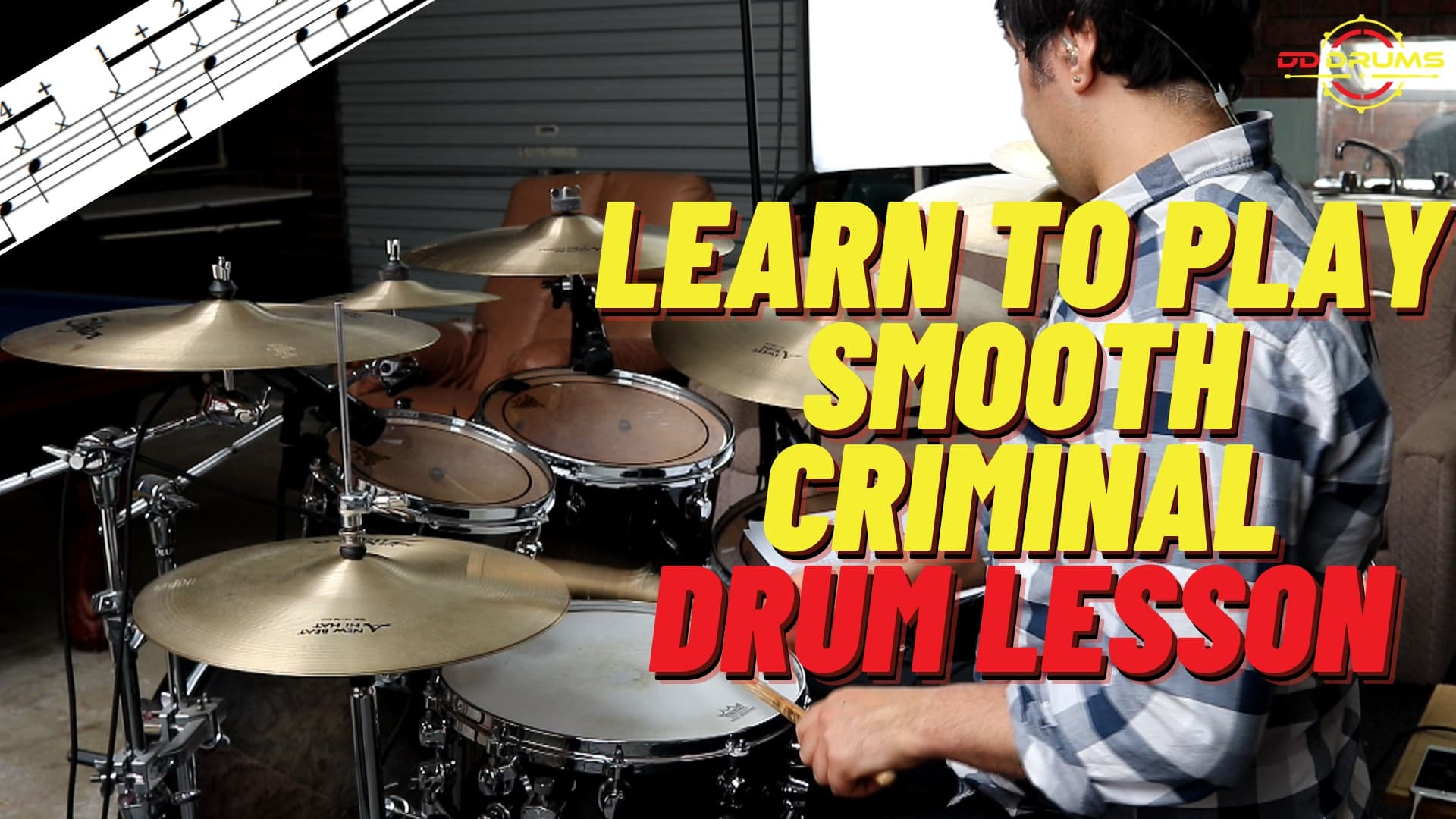 How to play Smooth Criminal – Michael Jackson- Drum Lesson