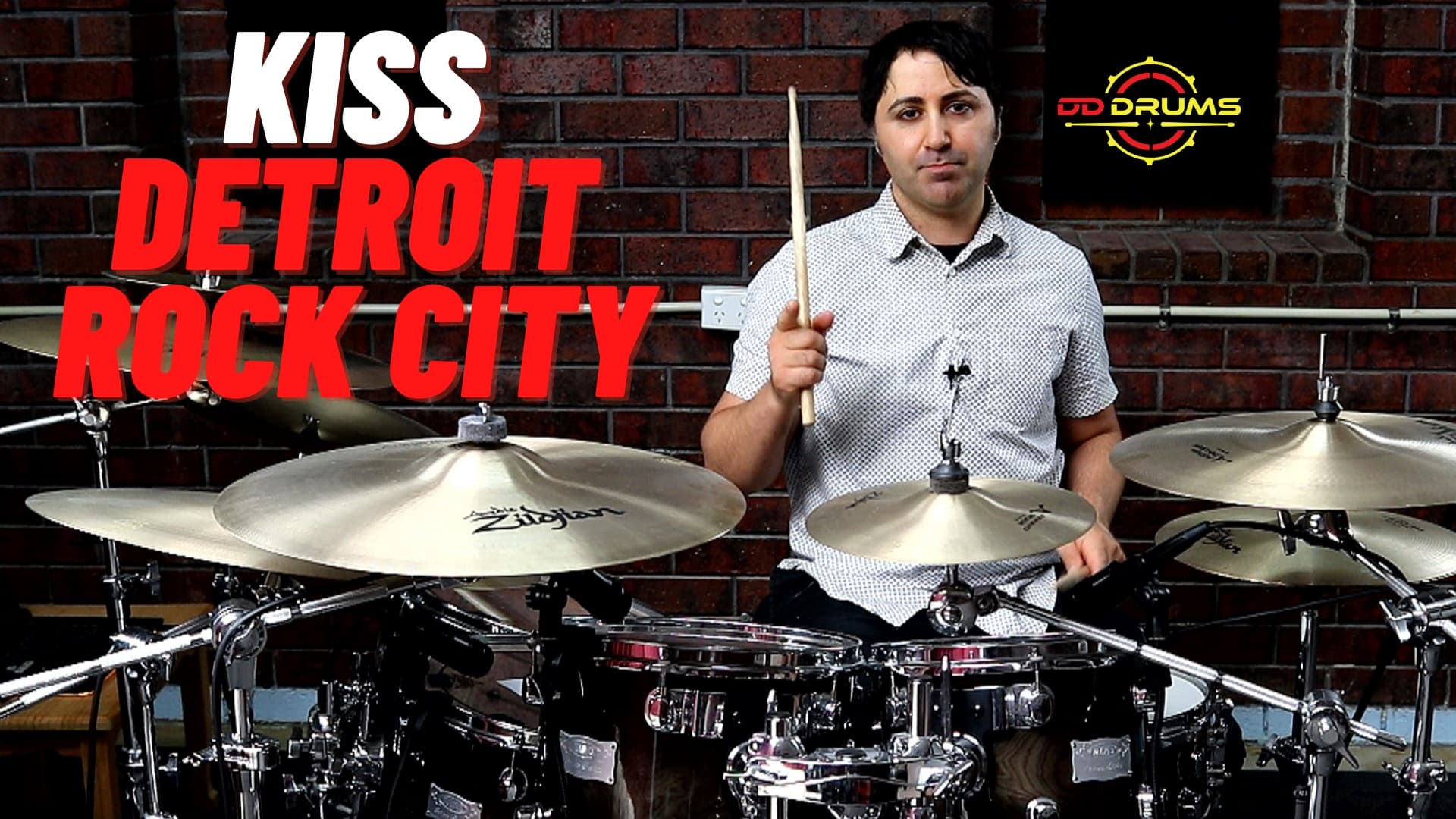 How to play KISS 'Detroit Rock City' on drums – Drum Lesson