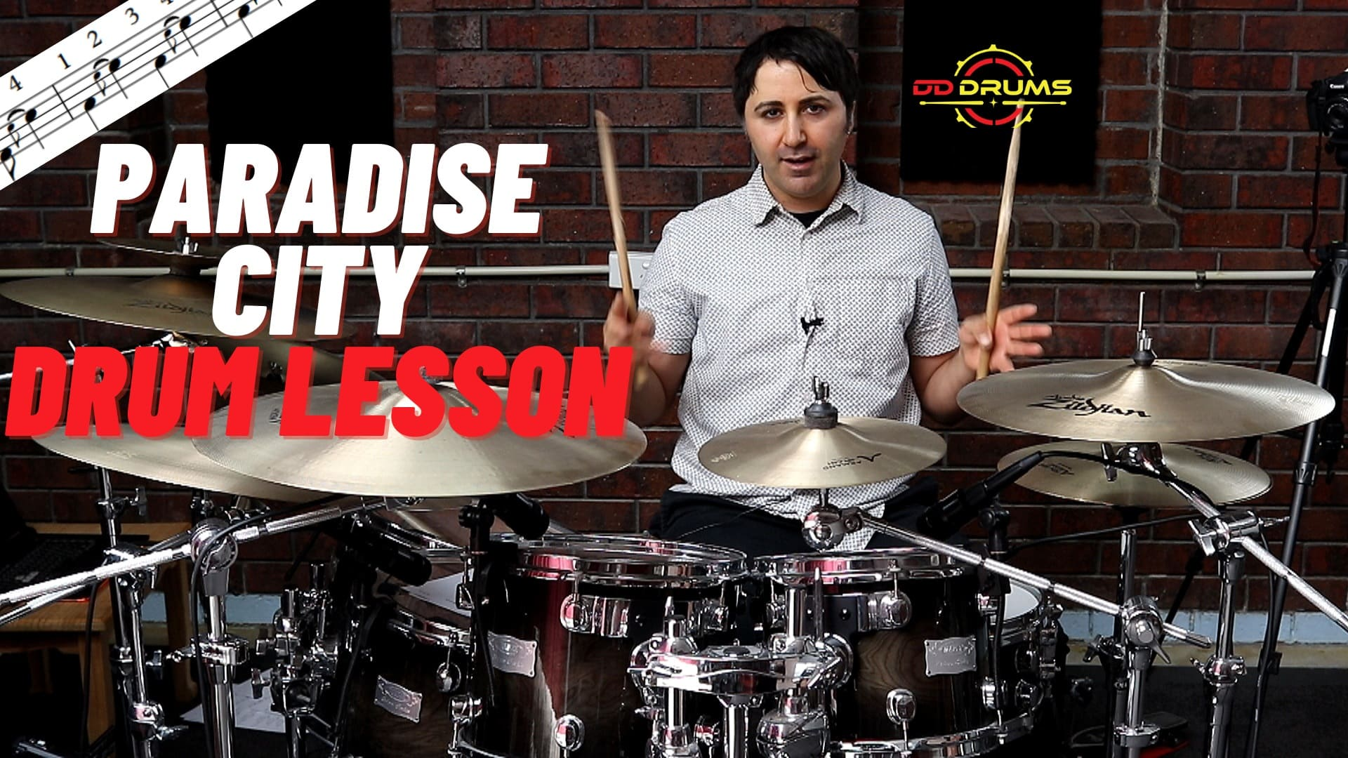 How to play Paradise City on Drums – Guns n Roses – Drum Lesson