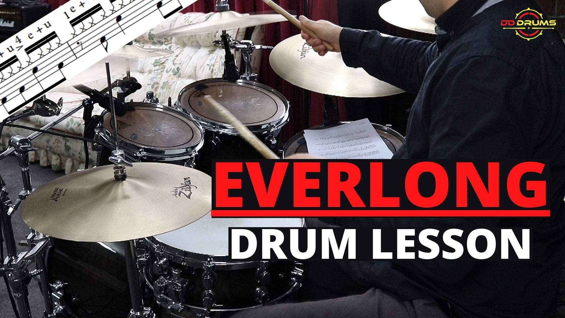 How to play Everlong on Drums – Foo Fighters – Drum Lesson