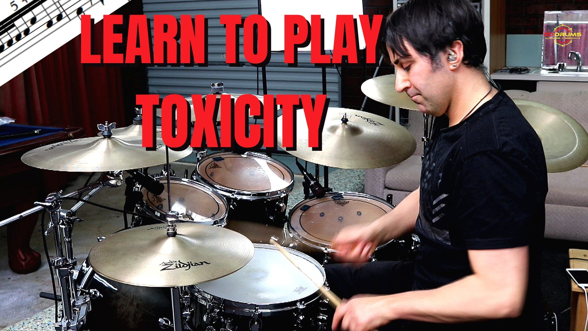 How to play 'Toxicity' by System of a Down on Drums – Drum Lesson